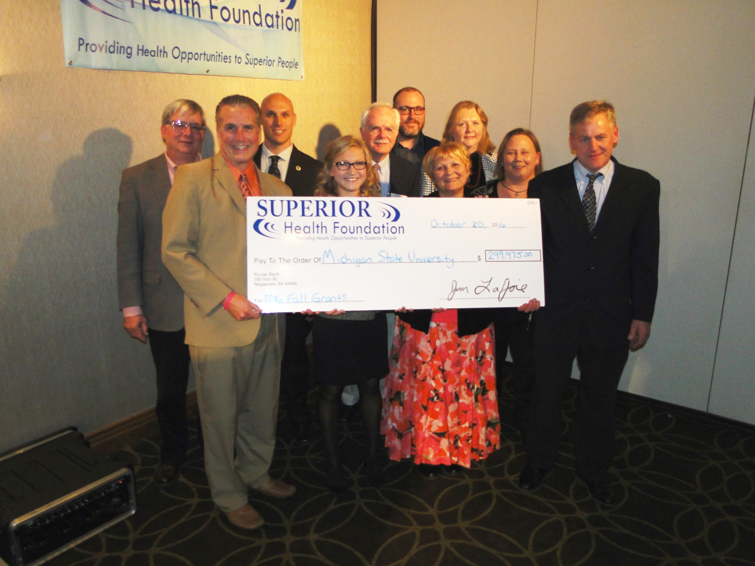 Large grants superior health foundation for Superior foundation